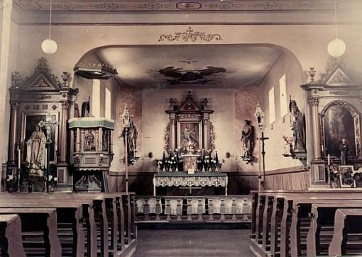 Wnętrze kościoła w Przewozie